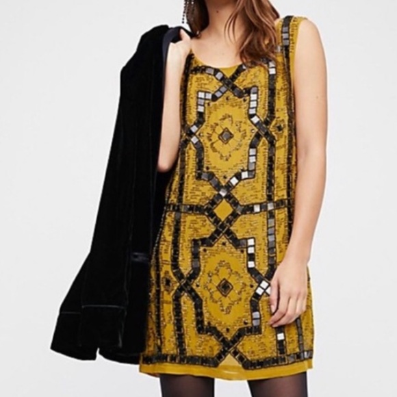 Free People Dresses & Skirts - Free people speak easy embellished mini dress